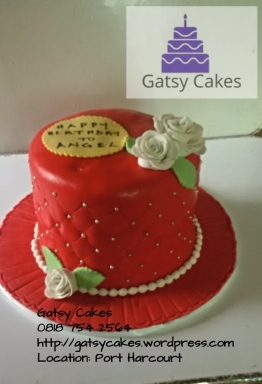 wm red quilted cake